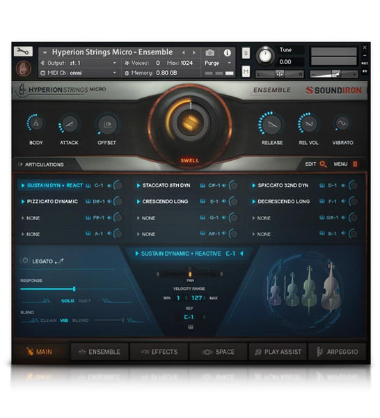 Hyperion Strings GUI 1