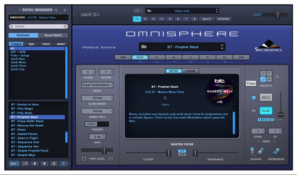 Ilio BT Modern Wave for Omnisphere 2
