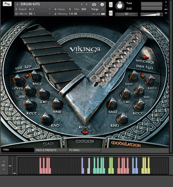 KeepForest Vikings Drums GUI