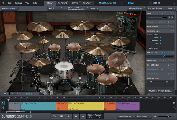 Toontrack SDX: Metal Machinery EDUCATION