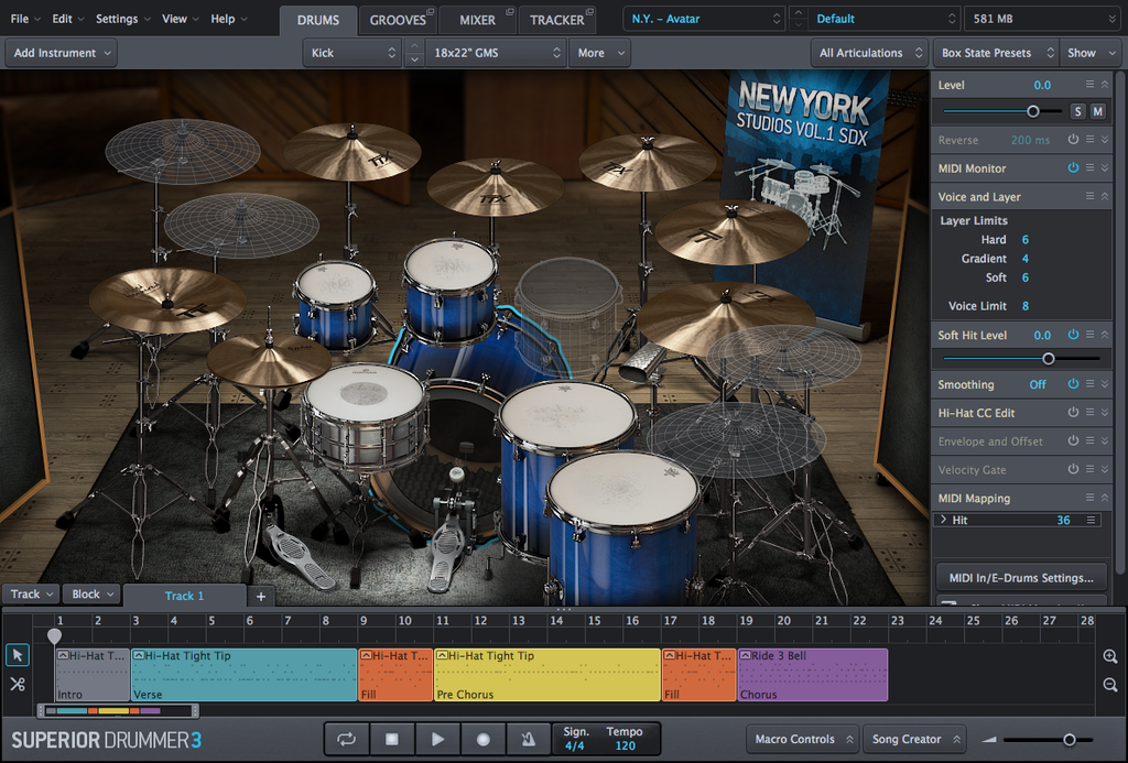 Review Toontrack SDX: New York Studios Vol 1