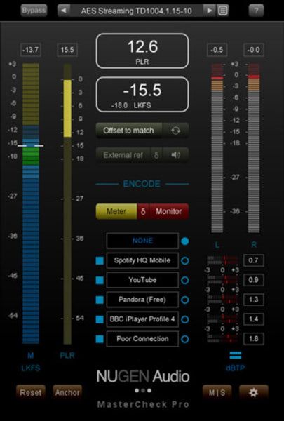 Nugen Audio MasterCheck GUI