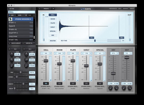 Overloud Studio Sessions II interface