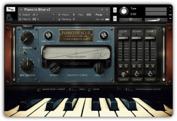 Install CineSamples Piano in Blue