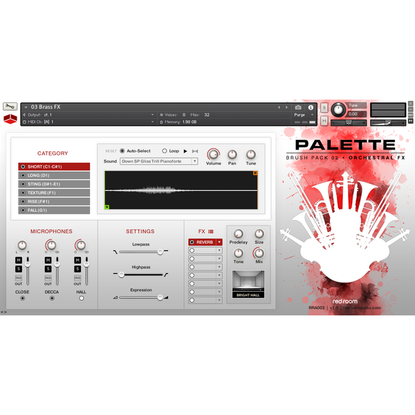 Install Red Room Audio Palette Brush Pack 02 Orchestral FX