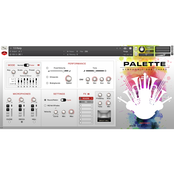 Interface Red Room Audio Palette Symphonic Sketchpad