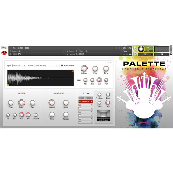 GUI Red Room Audio Palette Symphonic Sketchpad