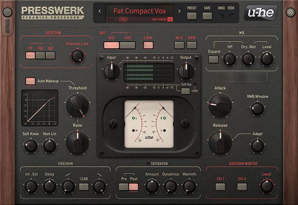 u-He Presswerk dynamics processor effects plugin download buy now vox gui
