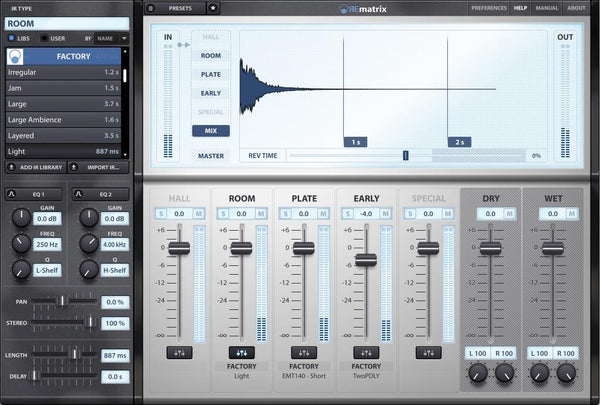 Overloud REmatrix Reverb plus Factory Library