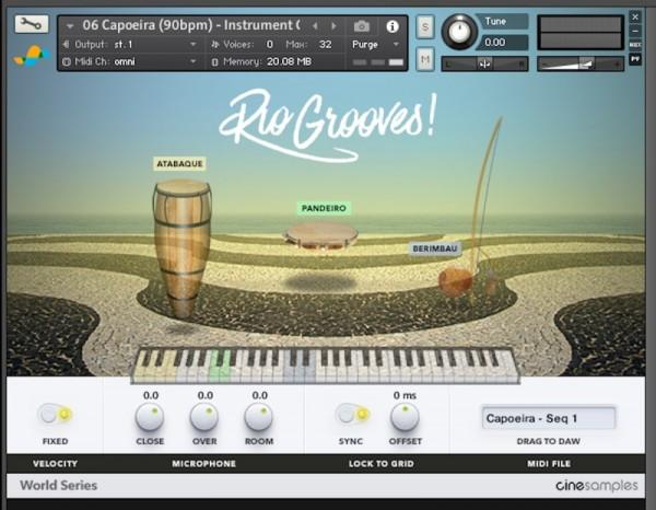 Install CineSamples Rio Grooves
