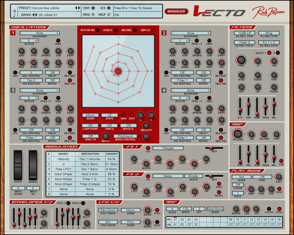 Rob Papen Vecto Virtual Synth Plugin