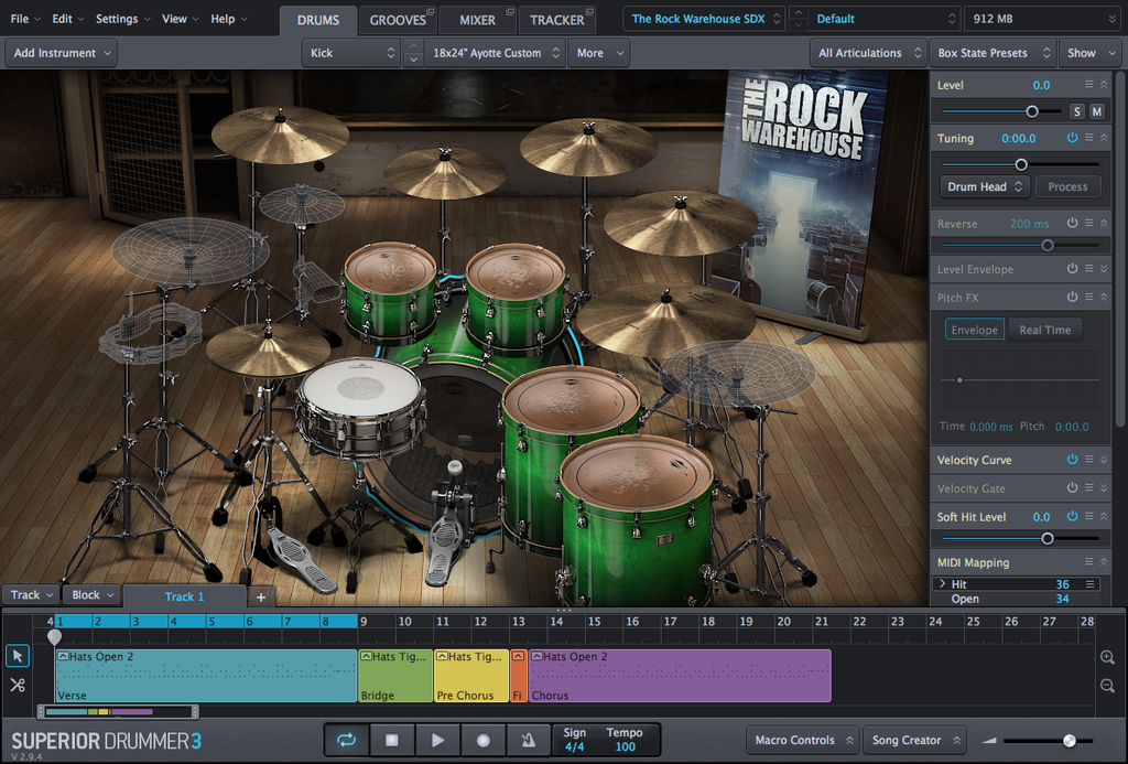 Toontrack SDX: The Rock Warehouse EDUCATION