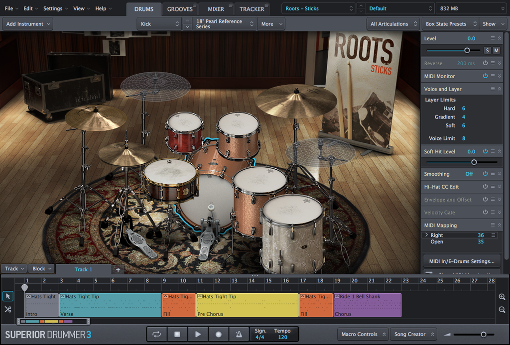 Toontrack SDX: Roots, Sticks EDUCATION