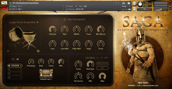 Review Red Room Audio Saga Acoustic Trailer Percussion
