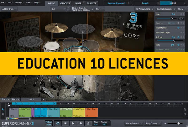 Buy Toontrack Superior Drummer 3 Education Institution MULTIPLE LICENCE