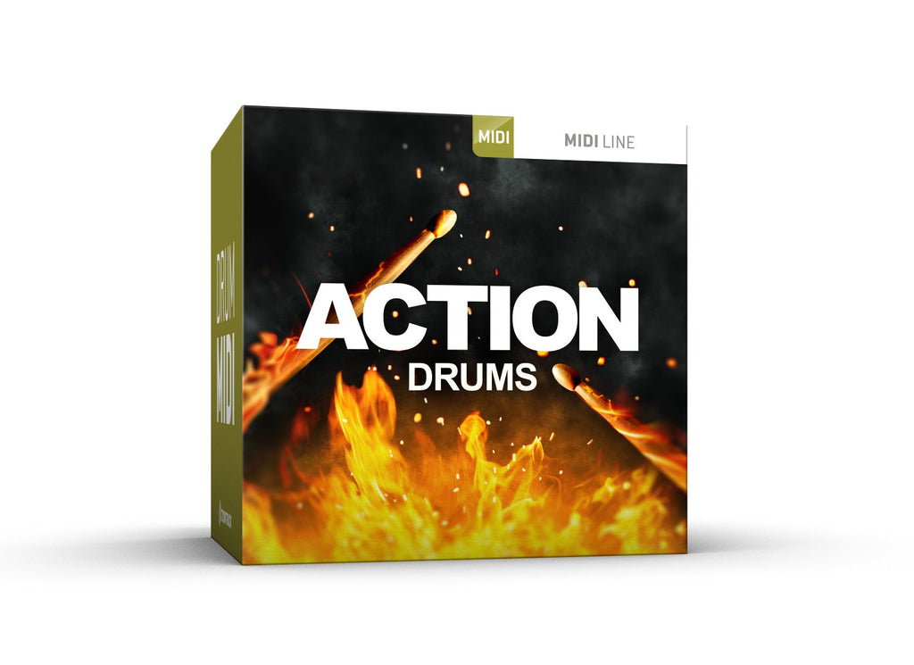 Toontrack Action Drums MIDI Pack Cover Art