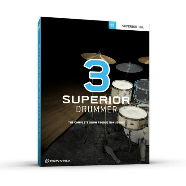 Toontrack Superior Drummer 3 + free MIDI pack + £15 of points!