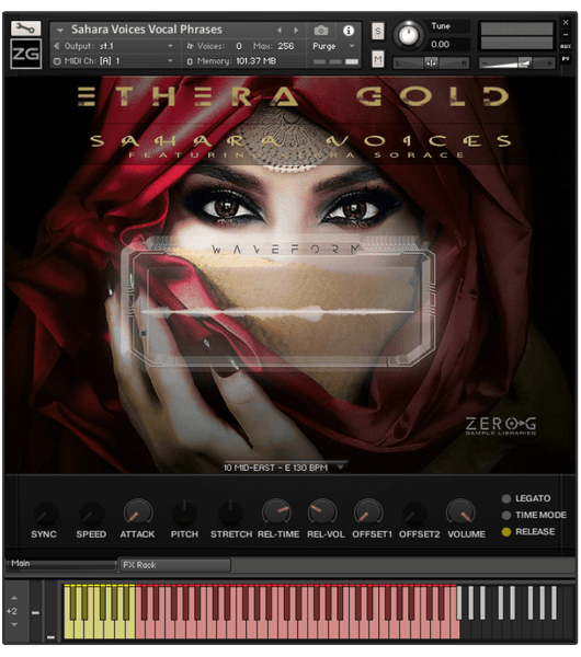 Zero-G Ethera Gold Sahara Voices