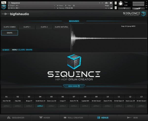 GUI Big Fish Audio Sequence: Hip Hop Beat Creator
