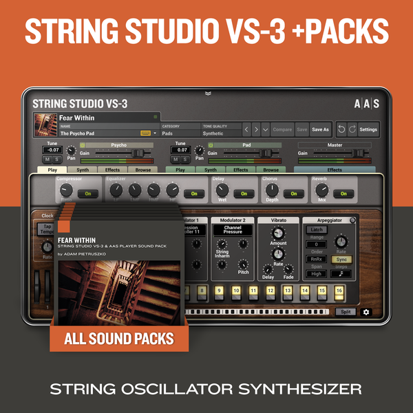 AAS String Studio VS-3 +Packs Bundle