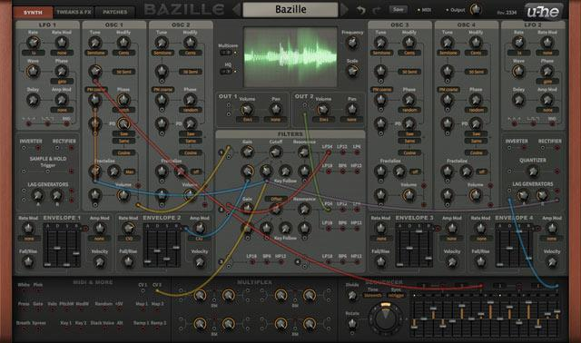 u-He Bazille digital modular synth virtual instrument buy download now