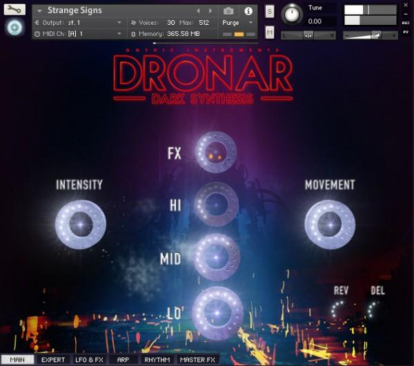 Interface Gothic Instruments DRONAR Dark Synthesis