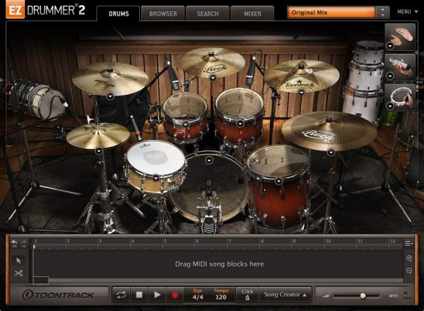 Interface Toontrack EZdrummer 2 Rock Edition