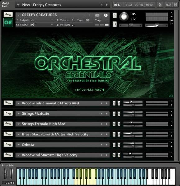 Interface ProjectSAM Orchestral Essentials