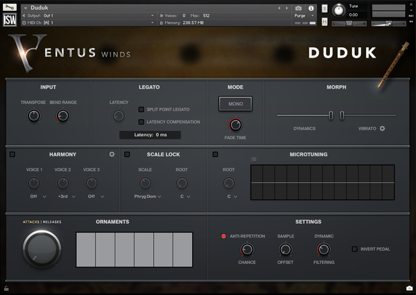 Impact Soundworks Ventus Ethnic Winds - Duduk