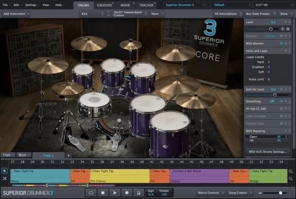 Library Toontrack Superior Drummer 3 Education Institution MULTIPLE LICENCE