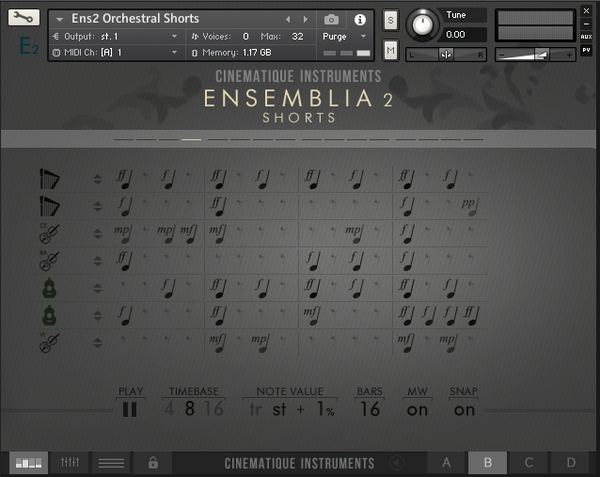 Cinematique Instruments Ensemblia 2 Orchestral