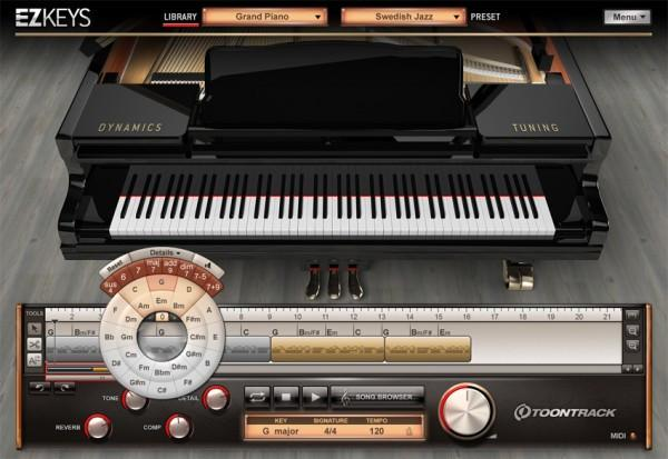 Interface Toontrack EZkeys Grand Piano Education Institute