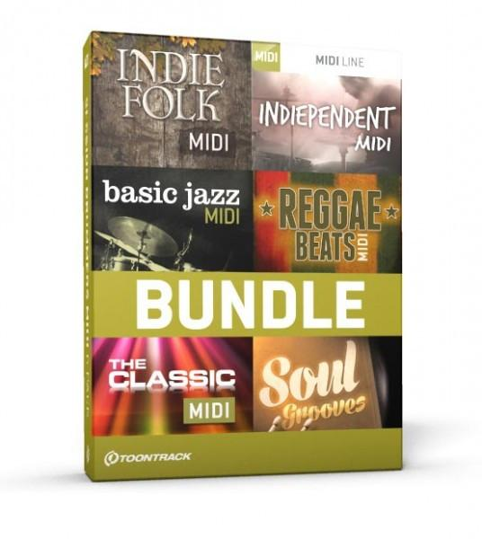 Download Toontrack Indie & Vintage MIDI 6 Pack