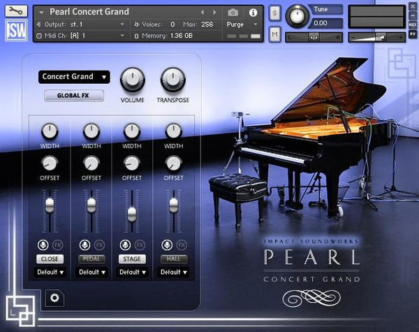 Buy Impact Soundworks PEARL Concert Grand