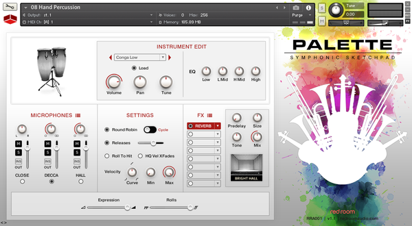 Kontakt Red Room Audio Palette Symphonic Sketchpad