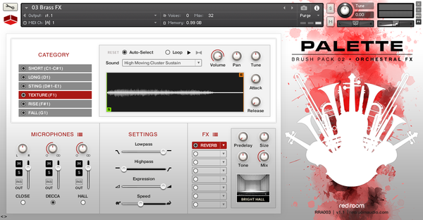 GUI Red Room Audio Palette Brush Pack 02 Orchestral FX
