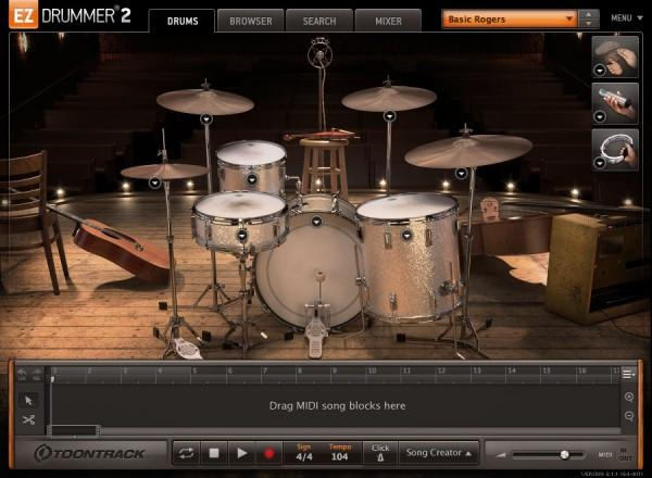 GUI Toontrack EZdrummer 2 Country Edition