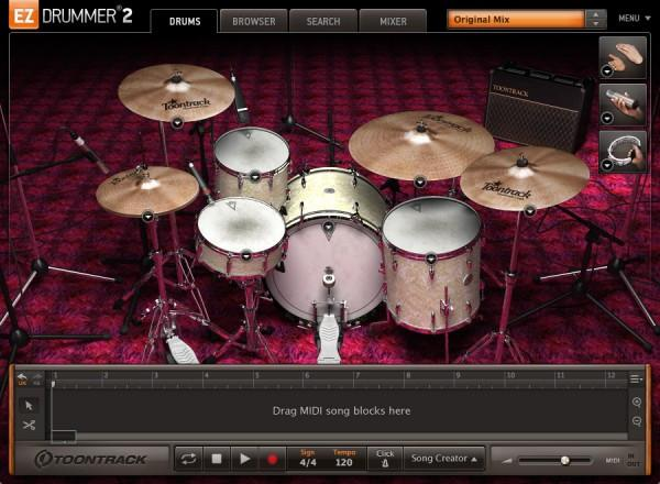 Interface Toontrack EZdrummer 2 Vintage Edition