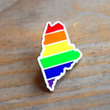 Maine Rainbow Enamel Pin