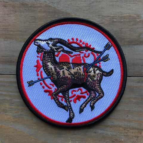 Brown Bird Embroidered Patch