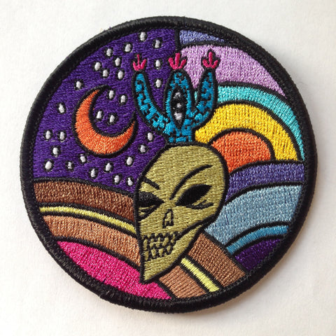 Skull/Cactus/Moon Embroidered Patch