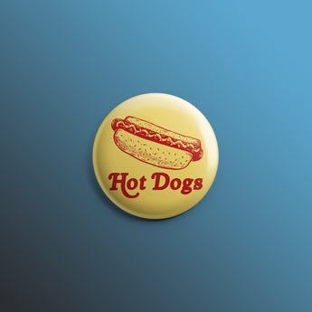 Hot Dogs 1inch Pin