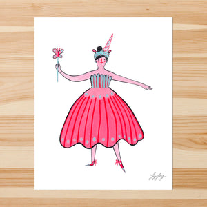 Fairy with Wand 8-10in Giclee Print
