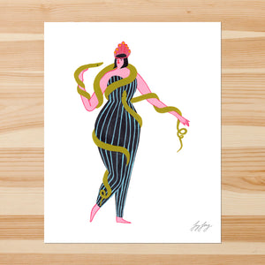 Snake Lady 8-10in Giclee Print