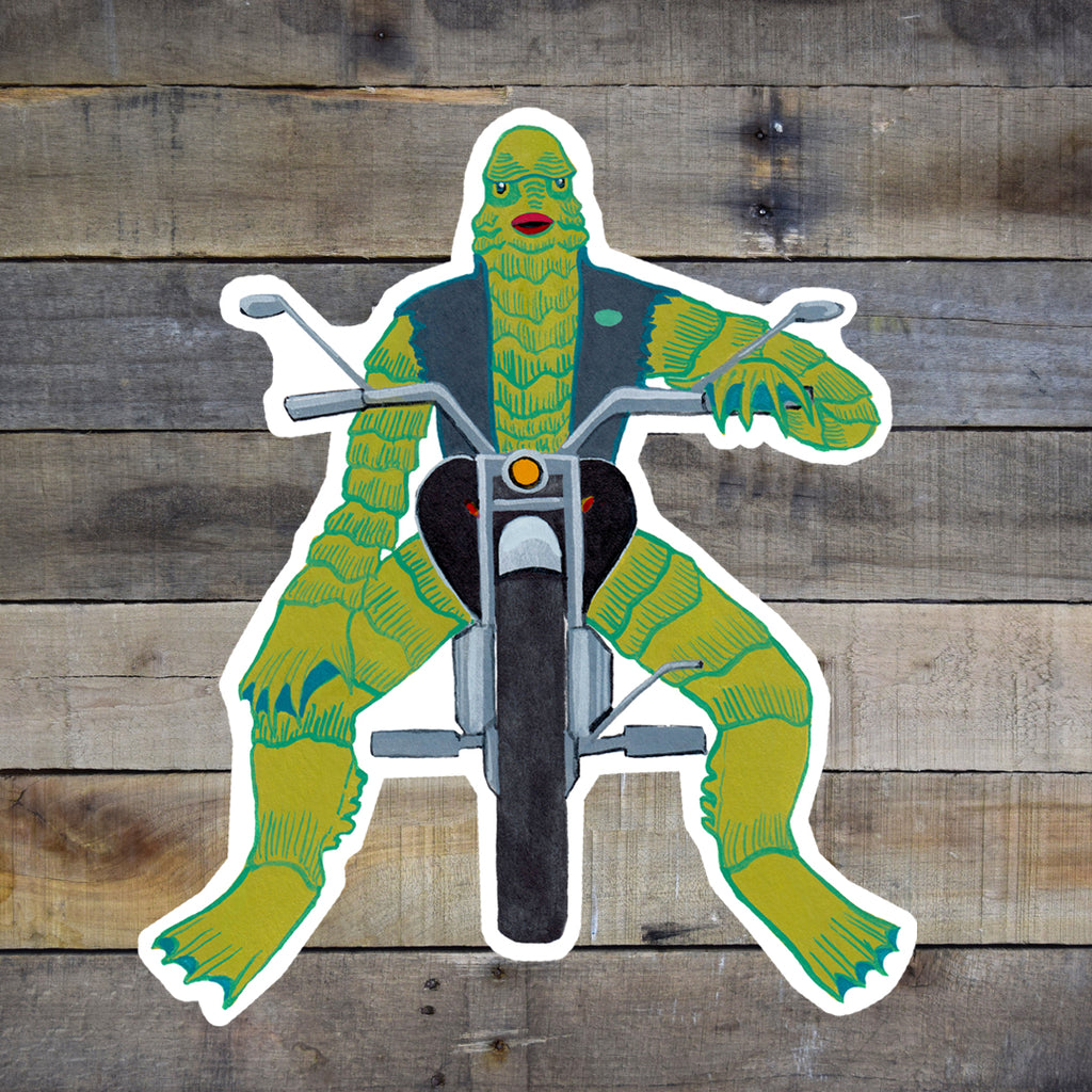 Creature Biker Vinyl Sticker