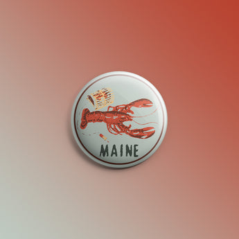 Maine Lobster 1inch Pin