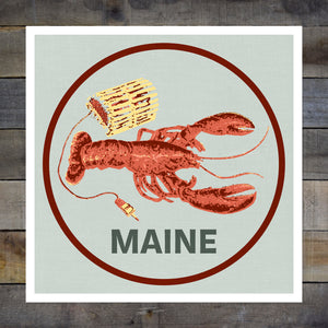 Maine Red Lobster 8-8in Giclee Print