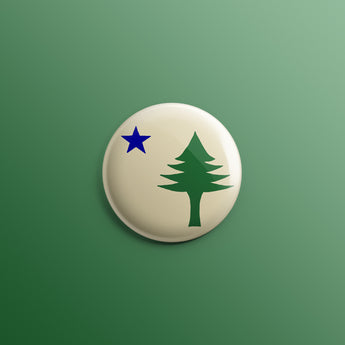 Maine 1901 State Flag 1inch Pin