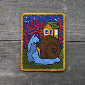 Snail Home Embroidered Patch
