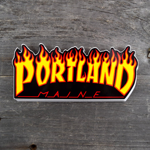 Thrasher Portland, Maine Vinyl Sticker